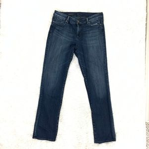 Kut Jessica Straight Leg High Rise Blue Jeans 10